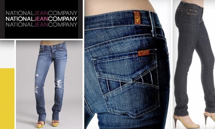 National Jean Company - Wellesley: $50 for $100 Worth of Designer Denim Plus Free Alterations at National Jean Company