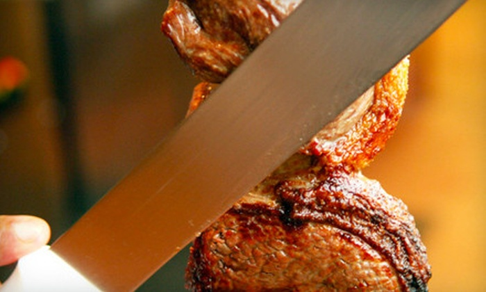 Rio Rodizio - Newark Central Business District: Brazilian Dinner with All-You-Can-Eat Rodizio and Dessert for Two or Four at Rio Rodizio in Newark (Up to 55% Off)