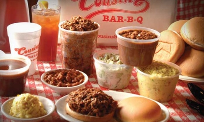 Cousin's Bar-B-Q - Multiple Locations: $7 for $15 Worth of Barbecue Fare at Cousin's Bar-B-Q