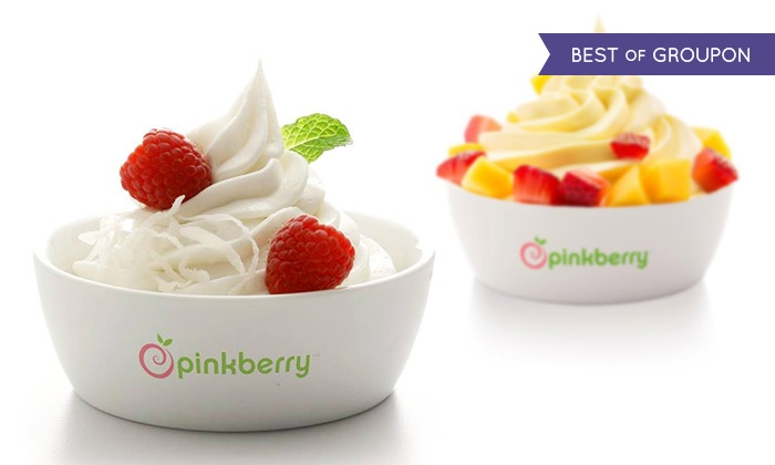 Pinkberry - Multiple Locations: C$5 for C$10 Worth of Frozen Yogurt, Toppings, and Treats at Pinkberry