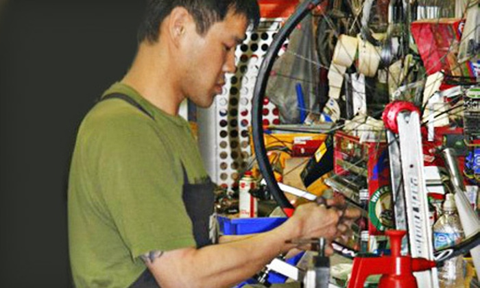 On Top Bike Shop - Carisbrooke: Bicycle Tune-Up at On Top Bike Shop in North Vancouver (Up to 55% Off). Three Options Available.