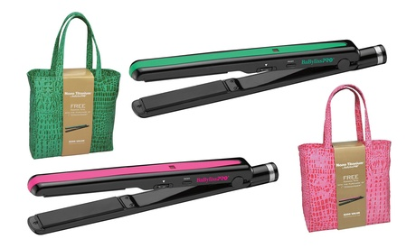 "Babyliss Pro Nano Titanium 1"" Straightener with Luxe Croc Bag"