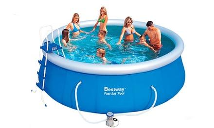 bestway quick up swimming pool groupon goods. Black Bedroom Furniture Sets. Home Design Ideas