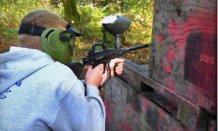 BullRun Battlefields - Mount Hood: Day of Paintball for 2, 4, 6, 8, or 10 at BullRun Battlefields in Sandy (Up to 68% Off)