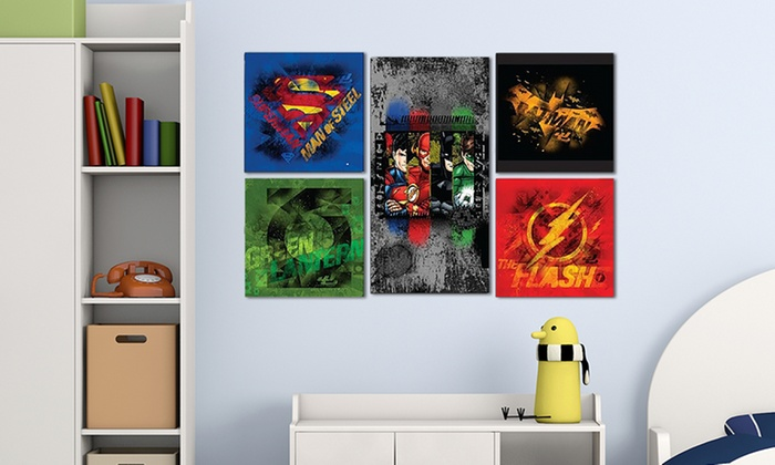 Justice League Wall Decor Set 5 Piece