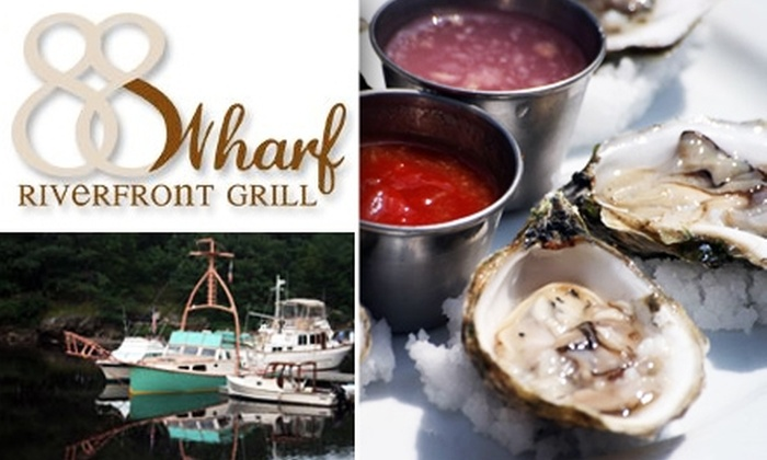 88 Wharf Riverfront - Milton: $15 for $30 Worth of Casual Fine Cuisine and Cocktails at 88 Wharf Riverfront Grill