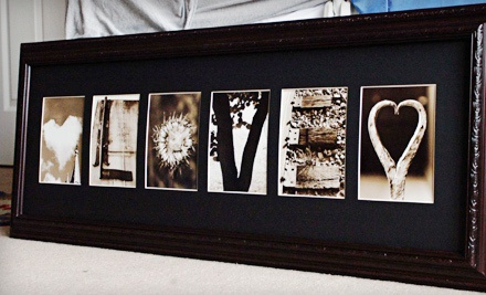 Up to 56 off custom framed letter art groupon goods for Custom letter art groupon