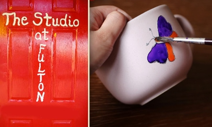 Studio at Fulton - 5, Clarksville: $15 for $30 Worth of Pottery Painting at The Studio at Fulton