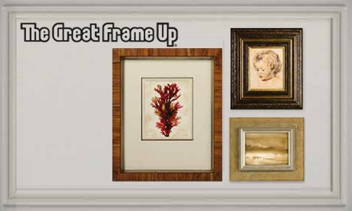 The Great Frame Up - Cockeysville: $45 for $100 W orth of Custom Framing at The Great Frame Up in Cockeysville