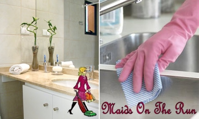 Maids on the Run - Jacksonville: $35 for a Two-Bathroom-and-One-Kitchen Cleaning from Maids on the Run (Up to $80 Value)