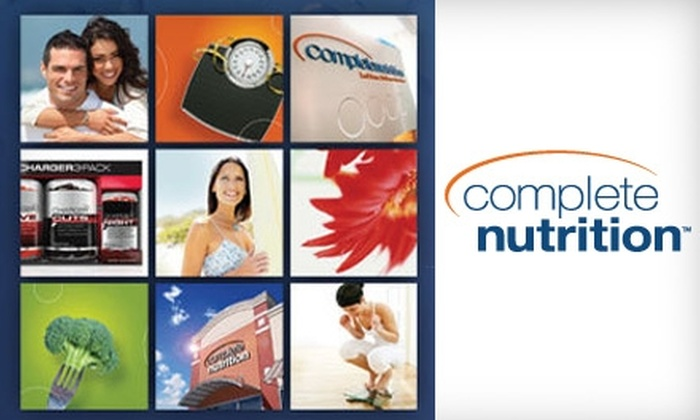 Complete Nutrition - Multiple Locations: $15 for $30 Worth of Vitamins, Supplements, and More at Complete Nutrition. Choose from Three Locations.