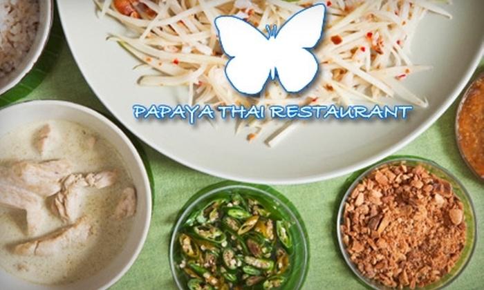Papaya Thai and Asian BBQ - Norwalk: $15 for $30 Worth of Thai Cuisine and Drinks at Papaya Thai and Asian BBQ