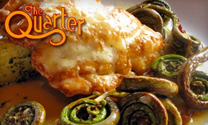 The Quarter Bistro - Mariemont: $25 for $50 Worth of Modern American Fare at The Quarter Bistro
