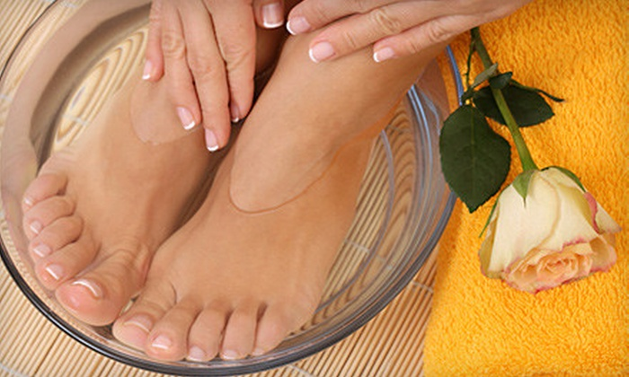 Tips & Toes - Johns Creek: Gel Manicure or Organic Mani-Pedis at Tips & Toes in Alpharetta (Up to 60% Off)