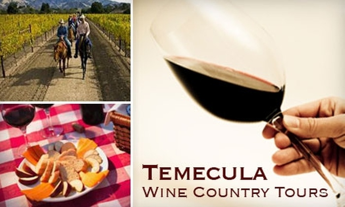 Temecula Wine Country Tours - Murrieta: $85 for a Horseback Ride, Two Wine Tastings, and a Picnic Lunch from Temecula Wine Country Tours