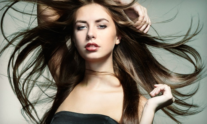 Lavish Salon - Downtown: Haircut and Conditioning Treatment with Optional Partial Highlights at Lavish Salon (Up to Half Off)