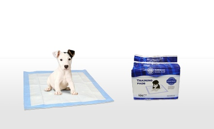groupon daily deal - 100-Pack of American Kennel Club Puppy-Training Pads. Free Returns.