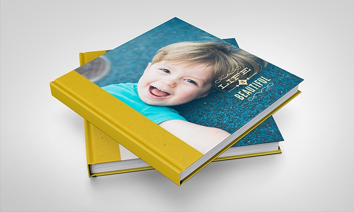 """York Photo: 20-Page 8""""x8"""" or 12""""x12"""" Custom Hardcover Book from York Photo (Up to 82% Off)"""