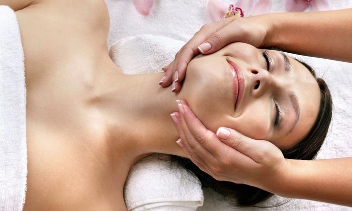 Voila Boutique Salon - Woodward Park: Deep-Tissue Massage and Galvanic Facial with Optional Body Wrap at Voila Boutique Salon (Half Off)
