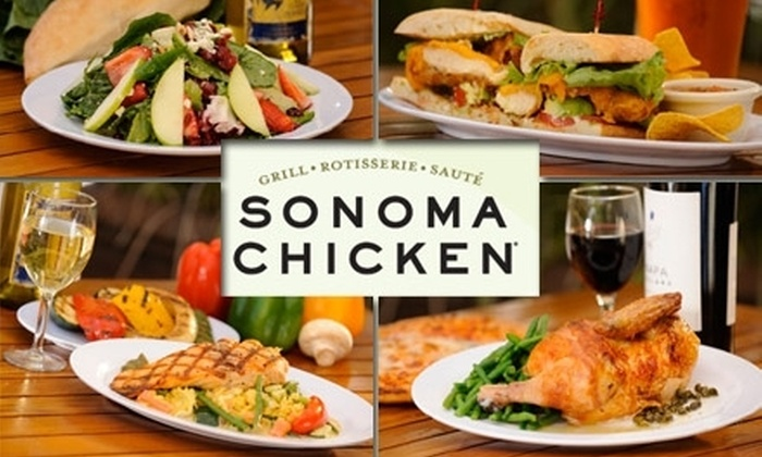 Sonoma Chicken - Downtown San Jose: $7 for $15 Worth of Freshly Prepared Dishes and Drinks at Sonoma Chicken Market Street
