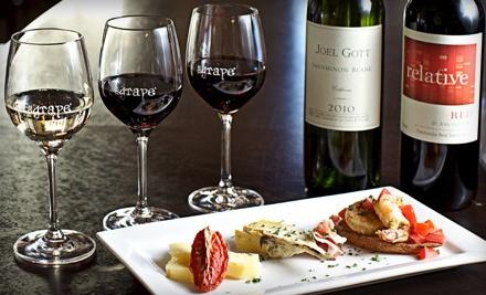 Discover Wine 3-Wine Flight for 2 (a $30 value) - The Grape Wine Bar and Bistro in Atlanta