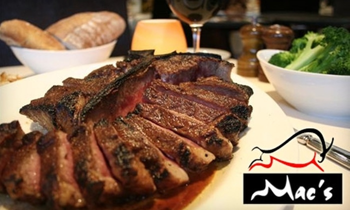 Mac's Steakhouse - Huntington: $30 for $60 Worth of Steak, Seafood, and More at Mac's Steakhouse in Huntington