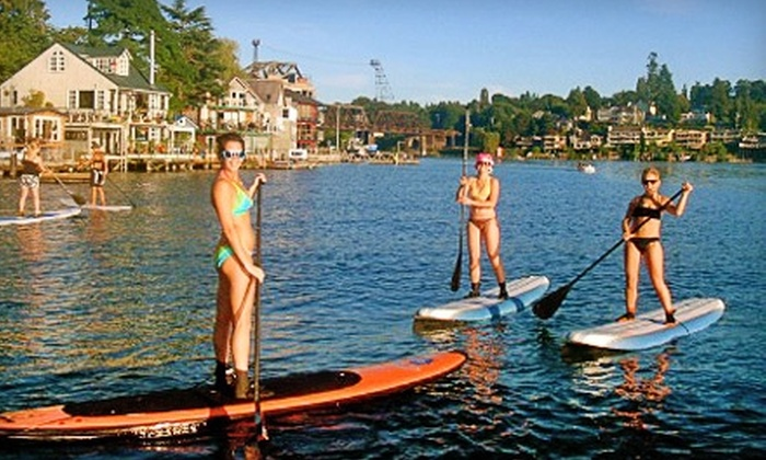 Washington Surf Academy - Sunset Hill: $35 for a Two-Hour Paddle-Boarding Lesson and Tour at Washington Surf Academy ($70 Value)