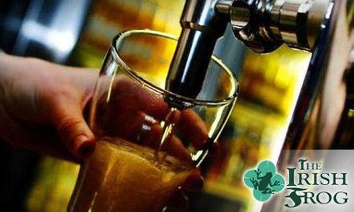 The Irish Frog - Clinton: $15 for $30 Worth of Pub Fare and Drinks at The Irish Frog in Clinton