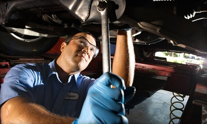 AAMCO Transmissions St. Louis - Multiple Locations: $29 for an Oil Change, Tire Rotation, New Wiper Blades, Battery Check, and Safety Inspection at Aamco (Up to $59.95 Value)