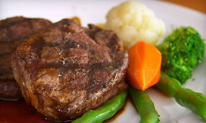 Daks Grill - Potomac Mills: $50 for a Four-Course, Upscale American Cuisine Dinner for Two at Daks Grill in Dale City (Up to $100 Value)