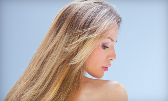 Mystique - Overland Park: Haircut Package with Blowout and Optional Highlights at Mystique in Overland Park (Up to 60% Off)