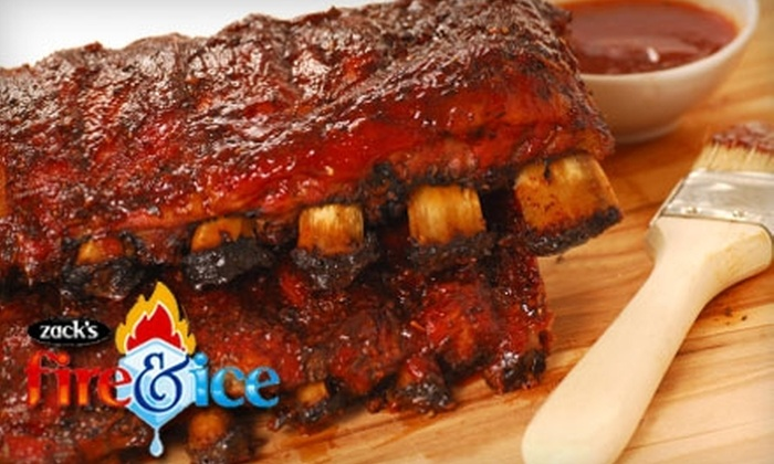Zack's Fire & Ice - Wallhaven: $7 for $15 Worth of Barbecue and Frozen Treats at Zack's Fire & Ice