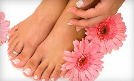 Express Shellac Mani-Pedi Package (a $50 value) - Aglow Spa & Aesthetics in London