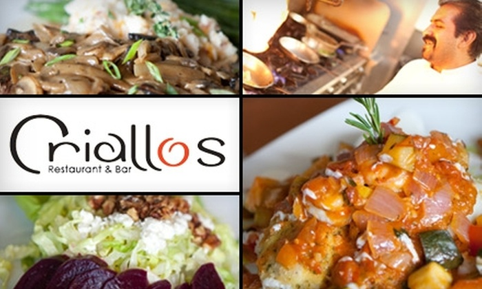 Criallo's Restaurant & Bar - Nashville: $20 for $40 Worth of Creative Mediterranean Fare and Drinks at Criallo's Restaurant & Bar