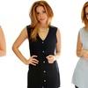 Lyss Loo Women's Button-Down Tunic