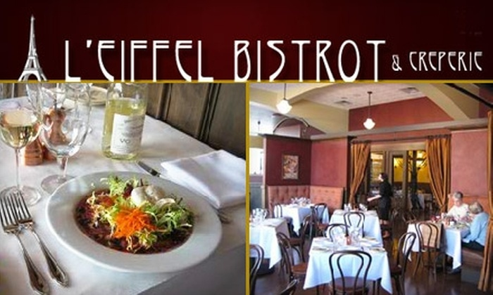 L'eiffel Bistrot & Creperie  (L'eiffel Bistrot, La Petite Creperie) - South Barrington: $15 for $35 Worth of French Fare and Drinks at L'Eiffel Bistrot & Creperie in South Barrington