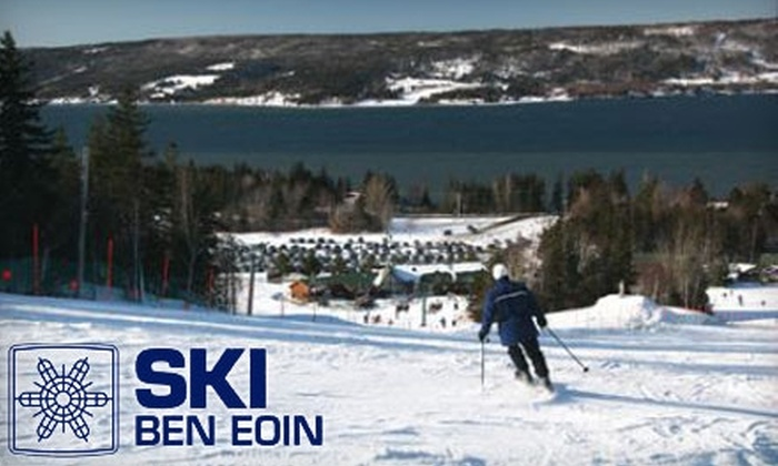 Ski Ben Eoin - East Bay: $24 for a One Day Lift Ticket and Ski Rental ($48 Value) or $20 for a Discover Skiing and Snowboarding Lesson ($40 Value) at Ski Ben Eoin