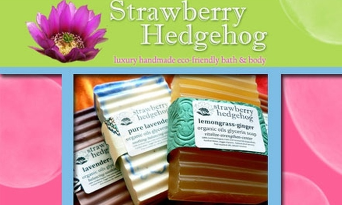 Strawberry Hedgehog - Phoenix: $18 for Four Organic Soap Bars Plus Shipping from Strawberry Hedgehog ($38 Value)