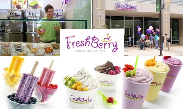 FreshBerry - North Raleigh: $3 for $6 Worth of Smoothies, Frozen Yogurt, and Fresh Pop Popsicles at FreshBerry