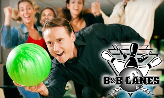 B & B Lanes - Terry Sanford: $16 for Two Games of Bowling and Shoes for Two People Plus a 12-Inch Pizza at B & B Lanes (Up to $32.77 Value)