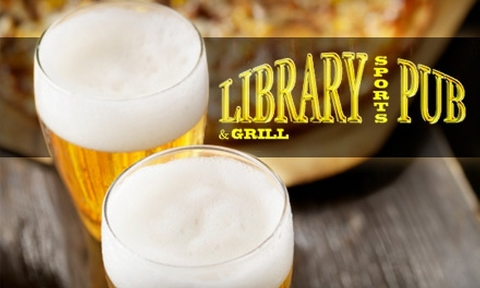 Library Sports Pub and Grill - Detroit: $10 for $25 Worth of Pub Grub, Beverages, and Sports at Library Sports Pub and Grill