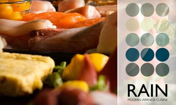 Rain Sushi - Multiple Locations: $24 for $50 Worth of Sushi, Sake, and More at Rain Sushi