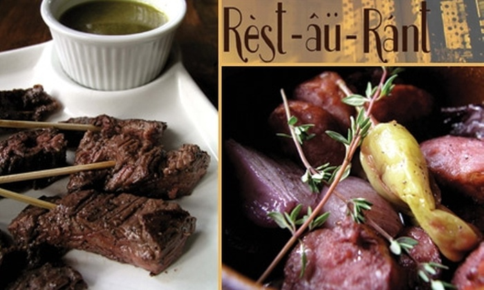 Rèst-âü-Ránt - Astoria: $10 for $20 Worth of Wine and Tapas at Rèst-âü-Ránt