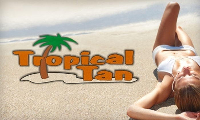 Tropical Tan - Park Crossing: $25 for One Month of Silver Level One Unlimited Tanning or Three Spray Tans at Tropical Tan (Up to $75 Value)