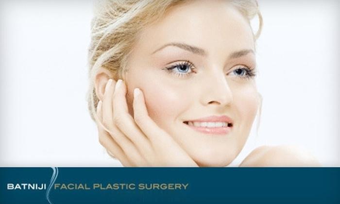 Batniji Facial Plastic Surgery - Newport Beach: $90 for 15 Units of Botox or a Photo Facial at Batniji Facial Plastic Surgery (Up to $220 Value)
