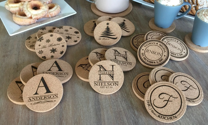 American Laser Crafts: One, Two, Four, or Six Sets of Two Personalized Coasters from American Laser Crafts (Up to 68% Off)