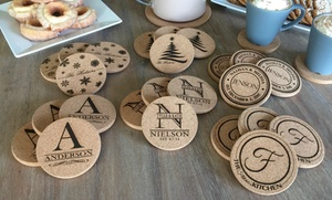 One, Two, Four, Or Six Sets Of Two Personalized Coasters From American Laser Crafts (up To 68% Off)