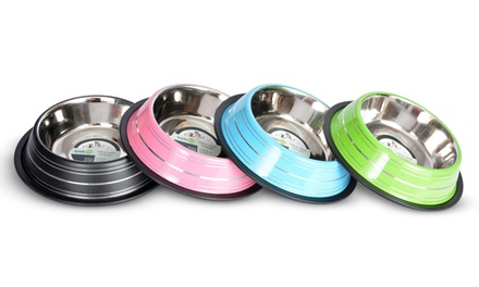 2-Pack Colored Stainless Steel Pet Bowls from $6.99–$16.99