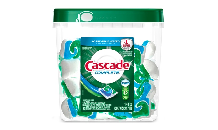 Cascade Complete Dishwasher Pods (80-Pack) | Groupon