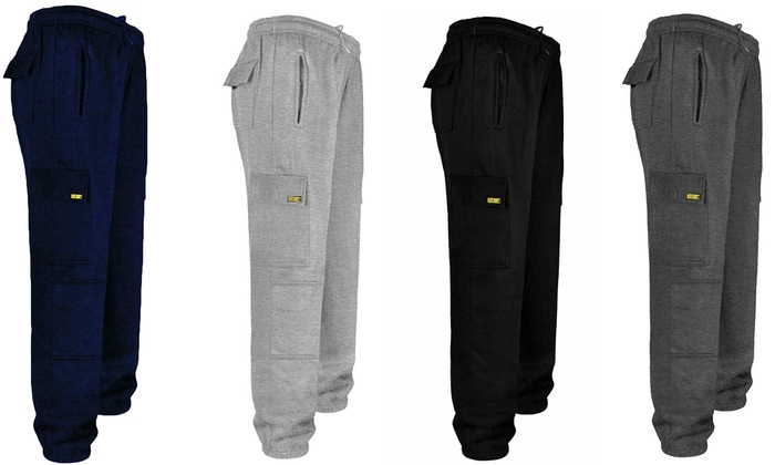 Site King Men's Cargo Joggers with Knee Pad Pockets from £10